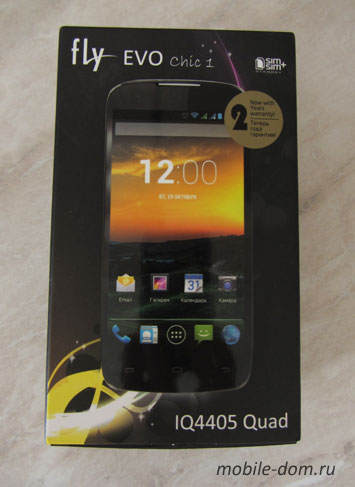 Смартфон Fly IQ4405 EVO Chic 1